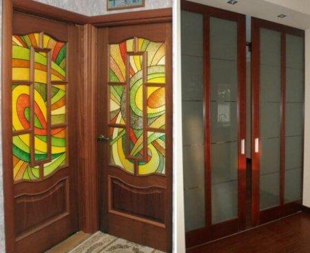 Виды стекла для дверей
