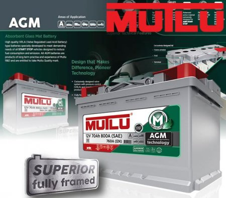 Автомобильный аккумулятор Mutlu AGM